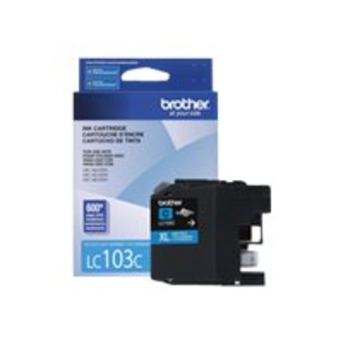BROTHER INTERNATIONAL LC103C High Yield Cyan Ink Cartridge