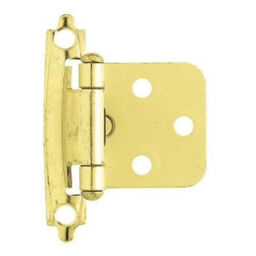 Liberty Polished Brass Self-Closing Overlay Hinge (1-Pair)