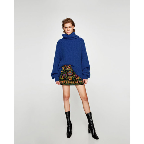 EMBROIDERED MINI SKIRT - NEW IN-WOMAN