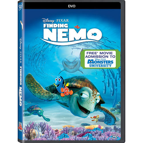 Finding Nemo DVD (With Free Monsters U Admission Included)