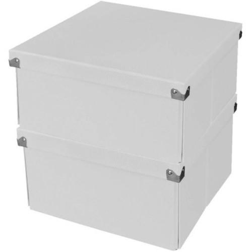 Samsill Pop n' Store Medium Square Box - 2 Pack - White - 10.63