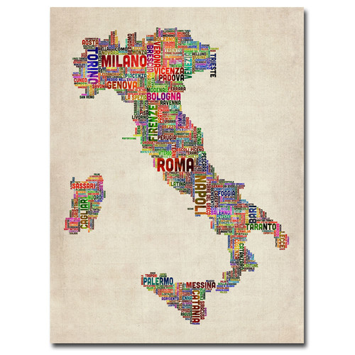 Trademark Global Michael Tompsett 'Italy II' Canvas Art [Overall Dimensions : 18x24]