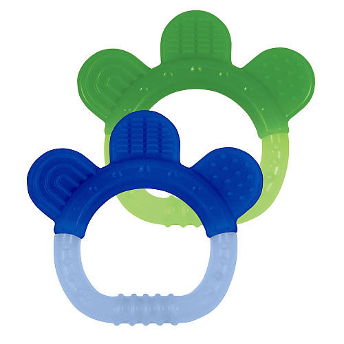 Green Sprouts Sili Paw Teether 2 Pack - Green / Blue