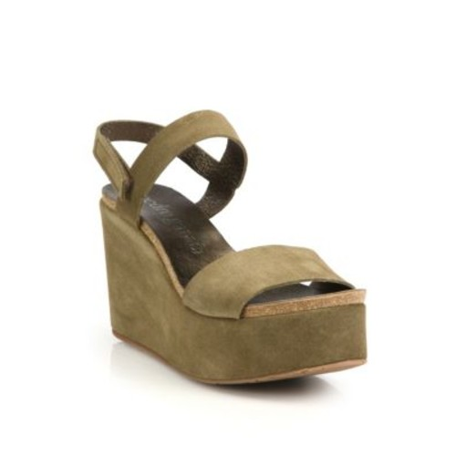 PEDRO GARCIA Dulce Leather Wedge Sandals