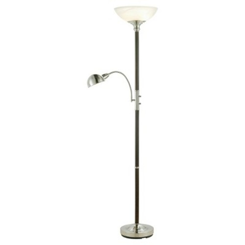 Adesso Lexington 71 in. Dark Walnut Combo Floor Lamp