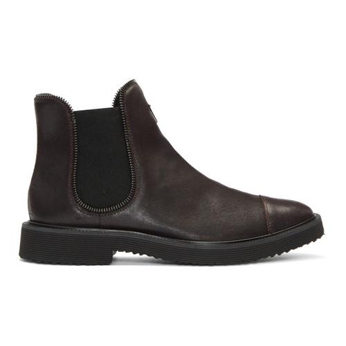 GIUSEPPE ZANOTTI Brown Tyson Chelsea Boots