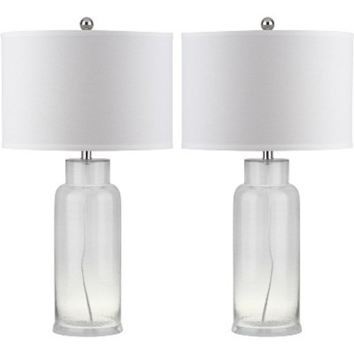 Table Lamp - Clear/White (Set of 2) - Safavieh