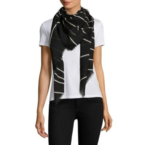 SAINT LAURENT Stripe Wool Scarf
