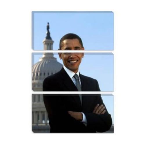 iCanvas Political Barack Obama Portrait White House Photographic Print on Canvas