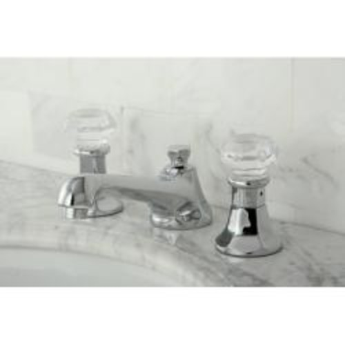 Crystal Chrome Widespread Bathroom Faucet
