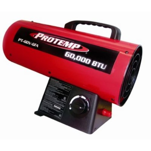 ProTemp 60,000 BTU Portable Propane Forced Air Utility Heater w/ Variable Control