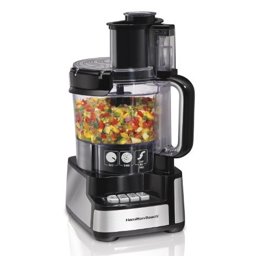 Hamilton Beach 70725 12-Cup Stack and Snap Food Processor [Standard]