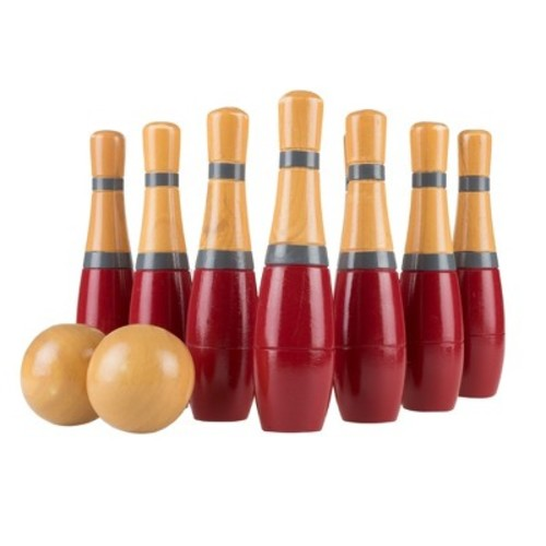 Hey! Play! Lawn Bowling Wooden Lawn Game - Blue/Gold (8