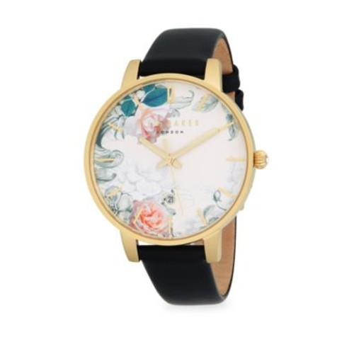 Ted Baker London - Stainless Steel and Leather Strap Watch