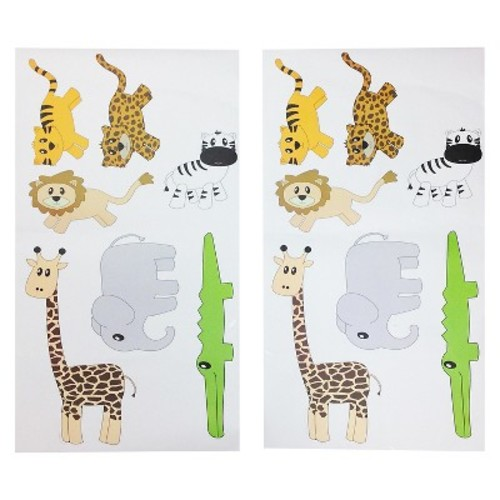 One Grace Place Jazzie Jungle Boy Wall Decals - Multicolor (20\