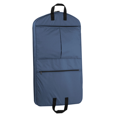WallyBags 40 Inch Garment Bag with Pockets [Navy]