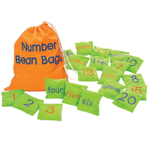 Learning Resources Number Bean Bags, Pack Of 20