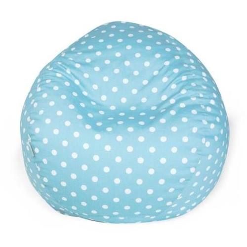 Aquamarine Small Polka Dot Small Classic Bean Bag