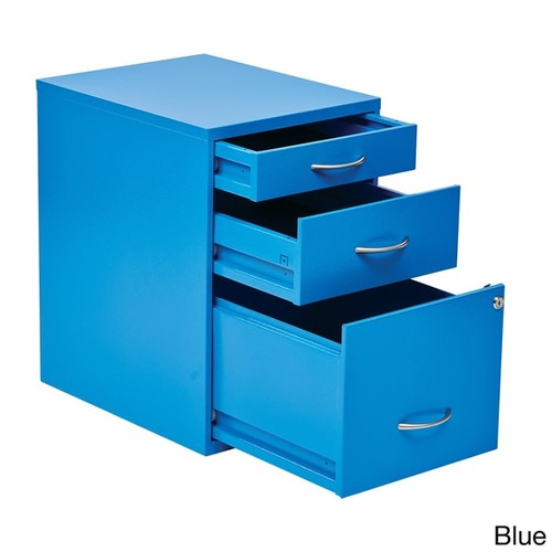 Locking Storage Drawer and Silver Handles File Cabinet