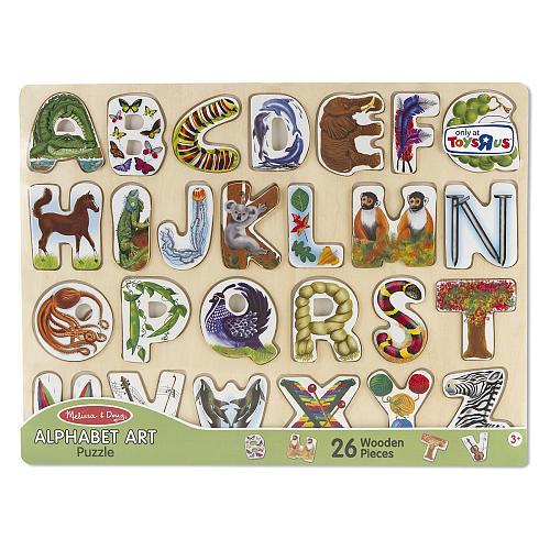 Melissa & Doug Large Alphabet Art Wooden Puzzle - 26-Piece