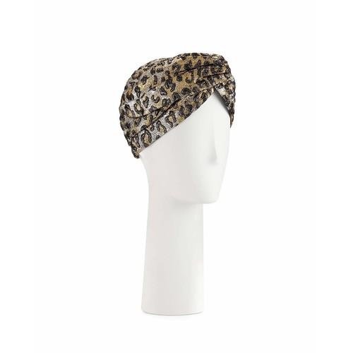 GUCCI Metallic Leopard-Print Turban, G
