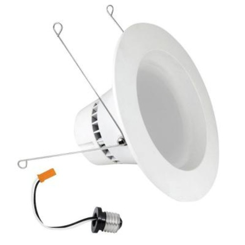 Feit Electric 120W Equivalent Soft White (2700K) 5/6 in. White Trim Recessed Retrofit Dimmable Downlight LED 90 CRI Module (Case of 4)