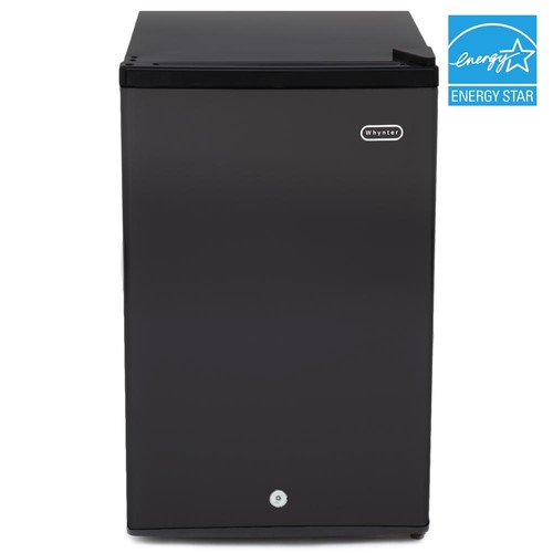 Whynter 3.0 cu. ft. Energy Star Upright Freezer with Lock in Black