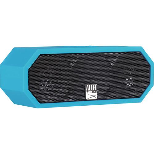 Altec Lansing - Jacket H2O Portable Bluetooth Speaker - Black/Aqua Blue