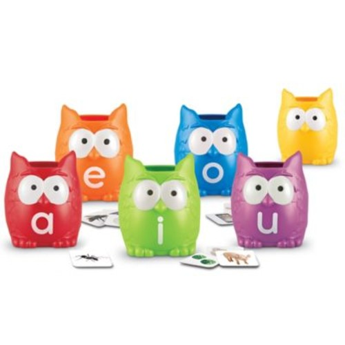 Learning Resources 107-Piece Vowel Owls Sorting Set