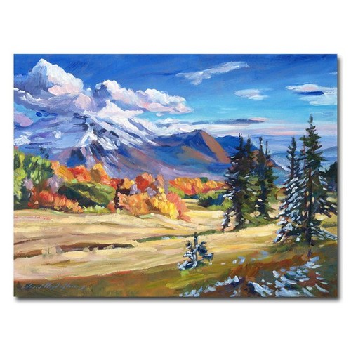 'Autumn in the Foothills' by David Lloyd Glover Framed Painting Print on Wrapped Canvas