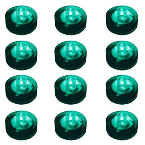 12ct Lumabase Teal Submersible Battery Operated LED Lights