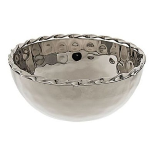 ClassicTouch Hammered Salad Bowl