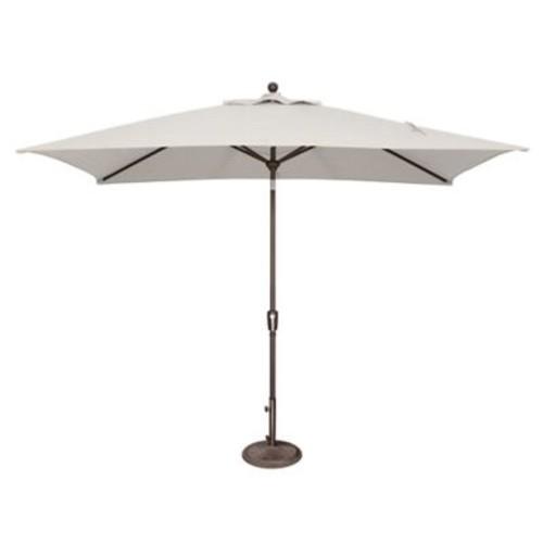 SimplyShade 10' x 6.5' Catalina Rectangular Market Umbrella; Sunbrella / Natural