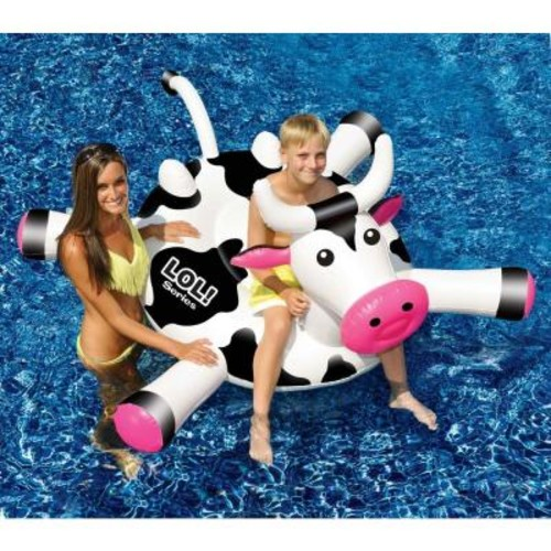 Swimline LOL 54 in. Cow inflatable Ride-On Pool Toy