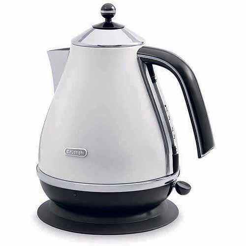 DeLonghi - 1.7L Electric Kettle - White