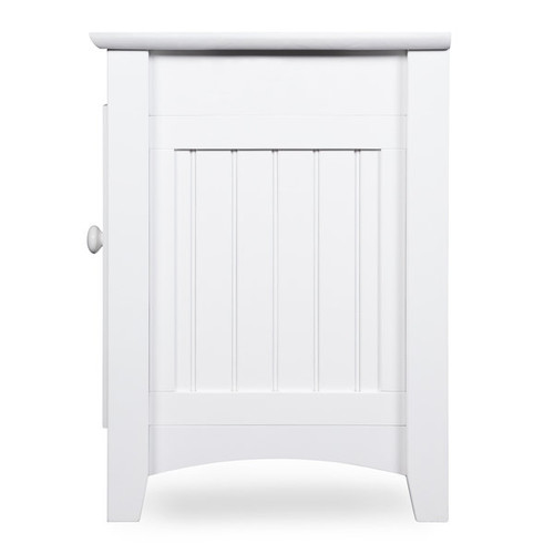 Atlantic Nantucket Mission-style White-finished Wood 60-inch Entertainment Console With Adjustable Shelves