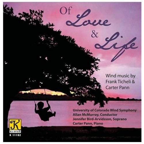Ticheli/pann:of Love Life CD (2012)