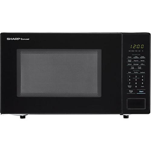 Sharp Carousel 1.1 Cu Ft Countertop Microwave Oven, Black