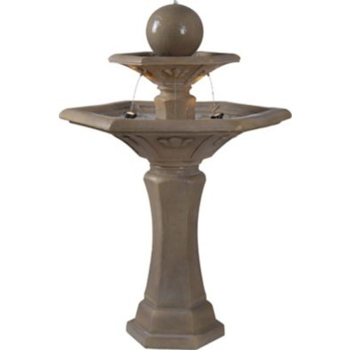 Kenroy Home 50325DT Provence Dark Travertine Outdoor Floor Fountain
