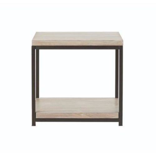 Home Decorators Collection Anjou White Wash End Table