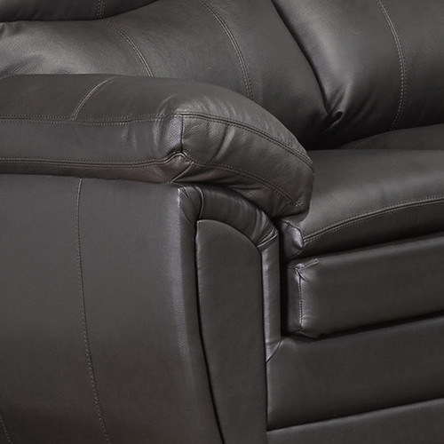Upton Premium Brown Top Grain Leather Sofa and Chair