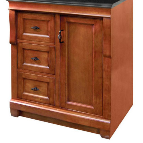 Foremost Naples 30 in. W 21.63 in. D Vanity Cabinet Only in Warm Cinnamon with Left Hand Drawers
