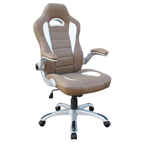 Techni Mobili High Back Executive Sport Racer With Flip Up Arms Office Chair