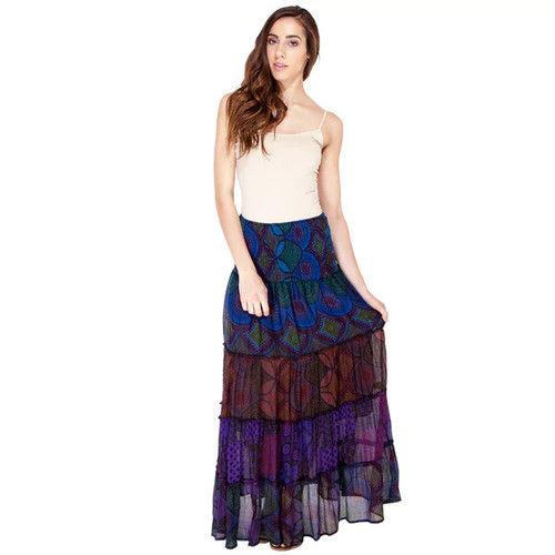 Handmade Midnight Melodies Mystical Gypsy Skirt (Nepal)