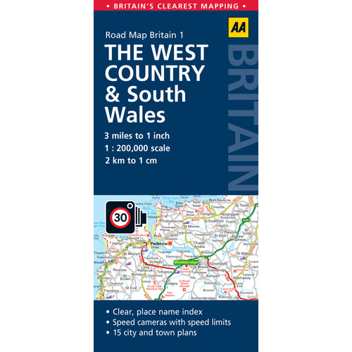 AA Road Map Britain The West Country & Wales