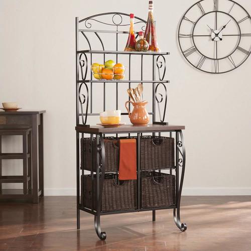 Hartman Bakers Rack with Storage Baskets