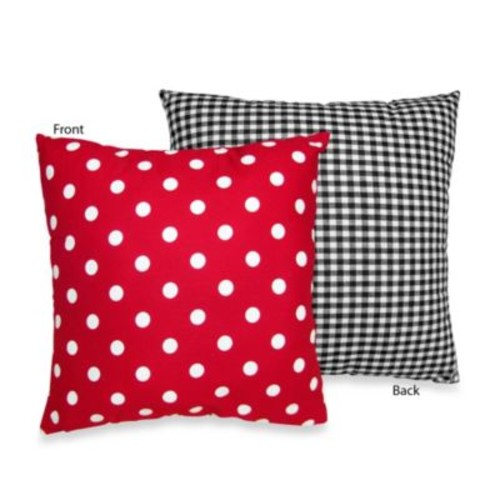 Sweet Jojo Designs Polka Dot Ladybug Throw Pillow
