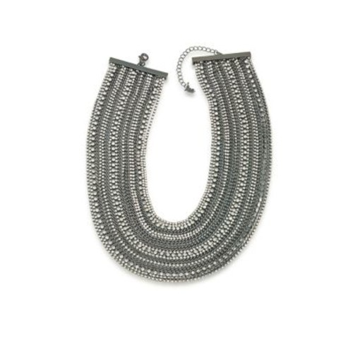 Rockstars Multi-Row Crystal Torsade Necklace