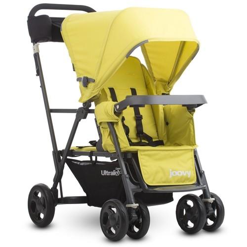 Joovy Caboose Ultralight Graphite Stand on Tandem Stroller - Citron