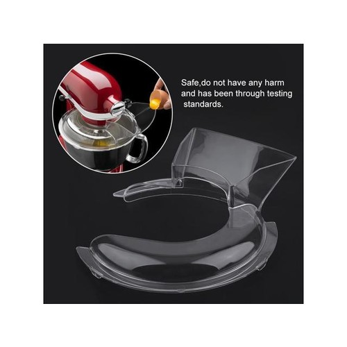 American Kitchen Food Pour Pouring Shield For 5-Quart Stand Mixer Machine clear
